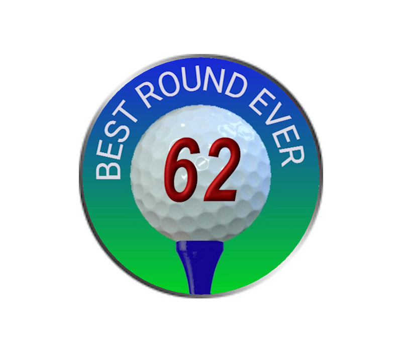 Best Golf Round Ever - Golf Ball Marker - 62