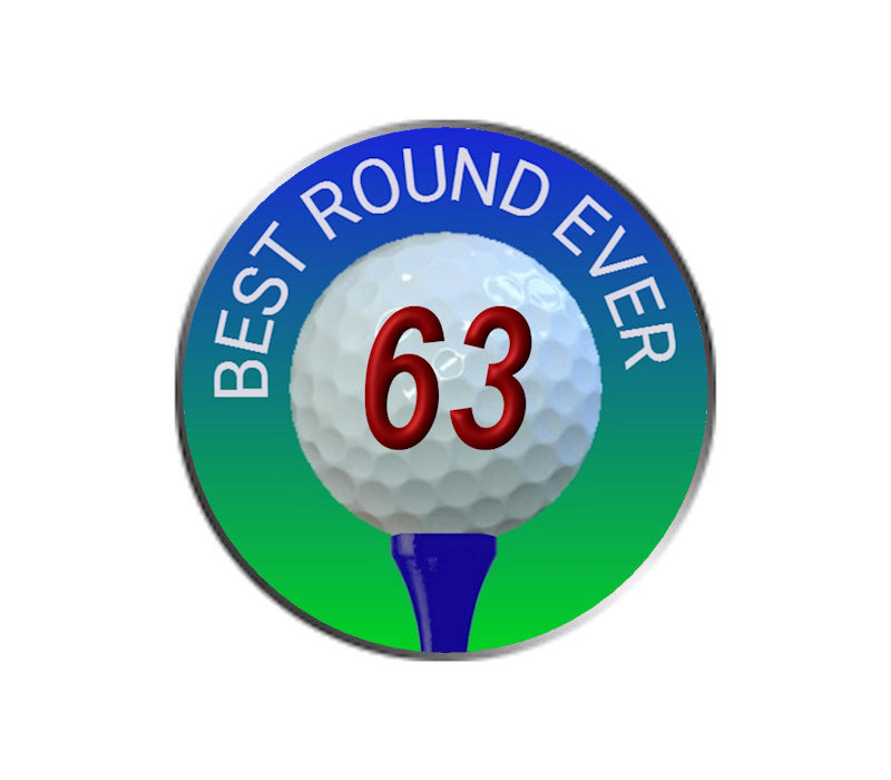Best Golf Round Ever - Golf Ball Marker - 63