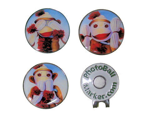 Sock Monkeys - Golf Ball Marker Set