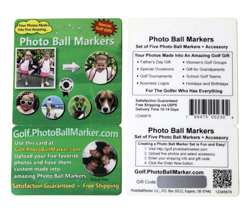 Product Card - Five Photo Ball Markers + One Accessory