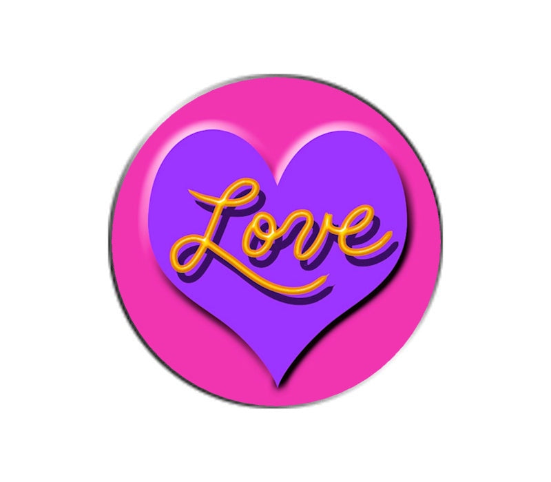 Love Ball Marker - Purple