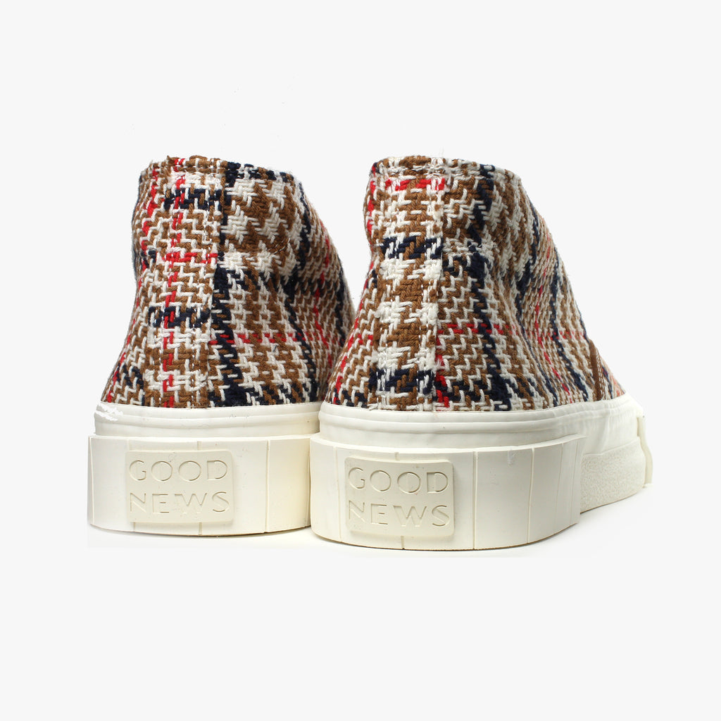 Good News London Sneakers - Chopper Brown Check Mid
