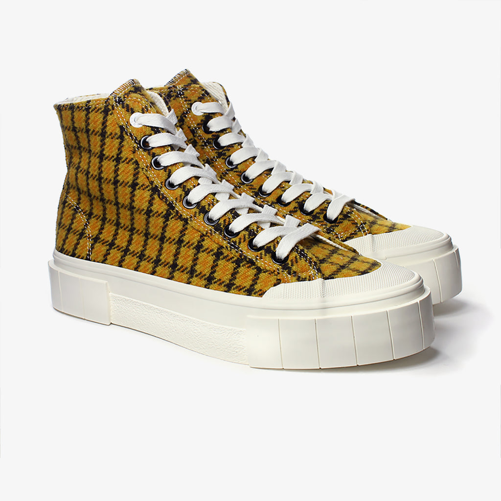 Good News London Sneakers - Softball 2 Mustard Check High