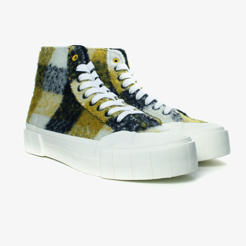 Good News London Sneakers - Softball 2 Yellow Check High