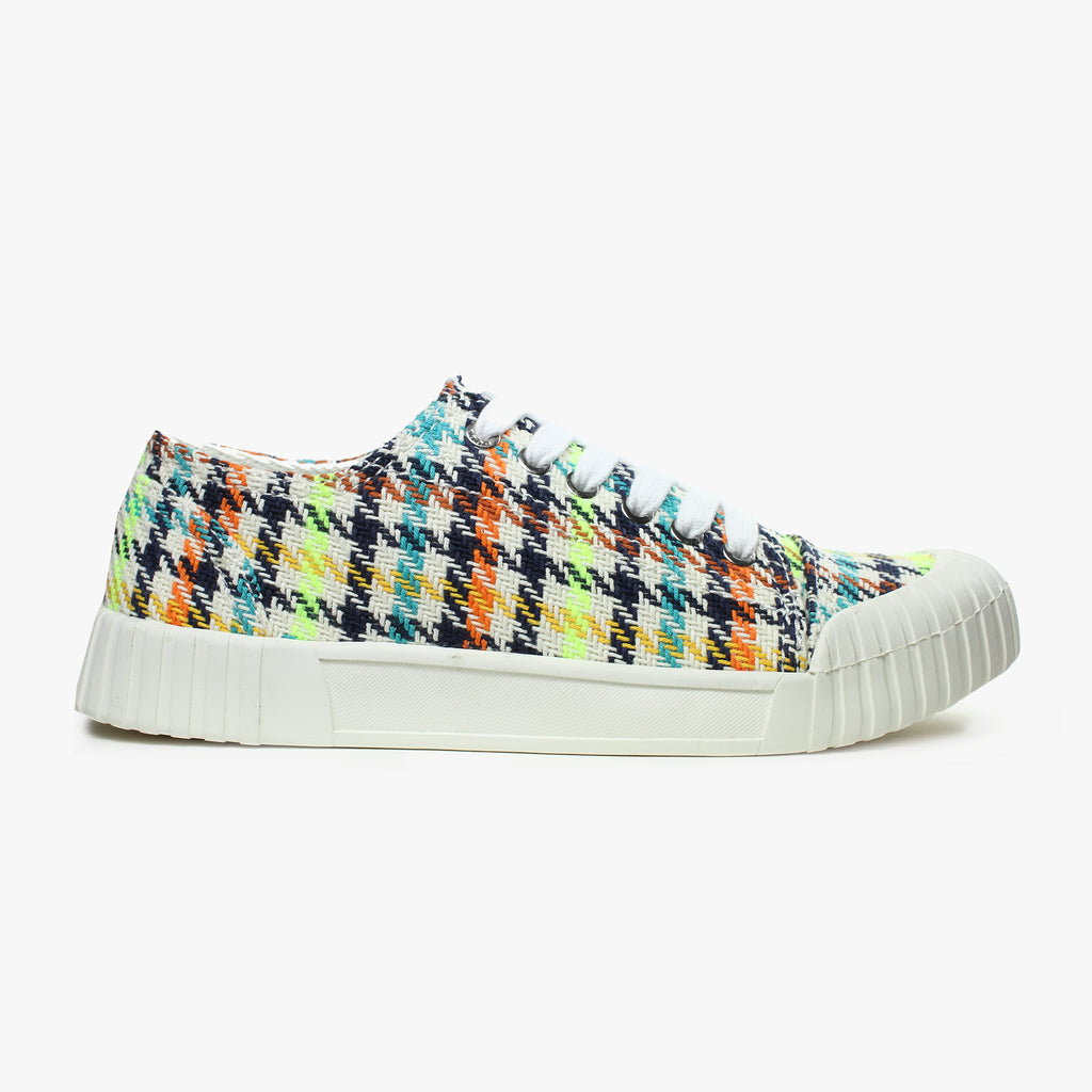Good News London Sneakers - Bagger Neon Check Low
