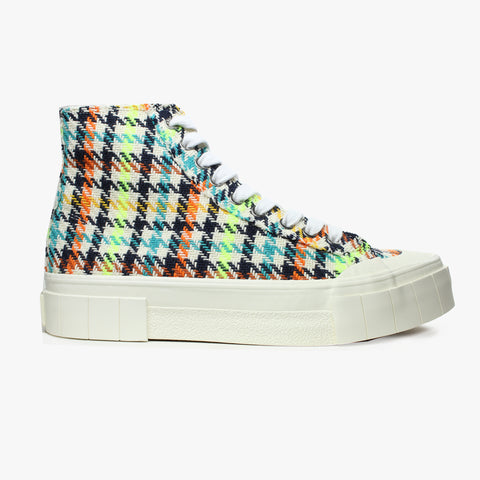 Good News London Sneakers - Juice Neon Check High