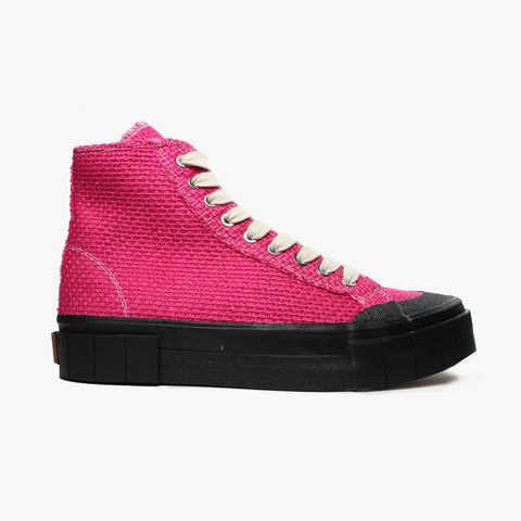 Good News London Sneakers - Juice Pink Jute Hi