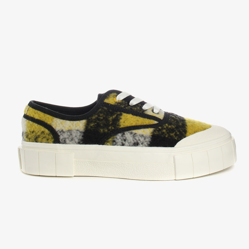 Good News London Sneakers - Softball 2 Yellow Check Low