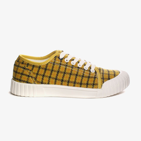 Good News London Sneakers - Softball Mustard Check Low
