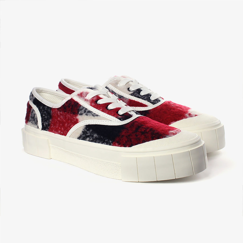 Good News London Sneakers - Softball 2 Red Check Low