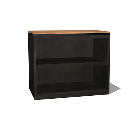 Beam Metal Two Shelf Bookcase