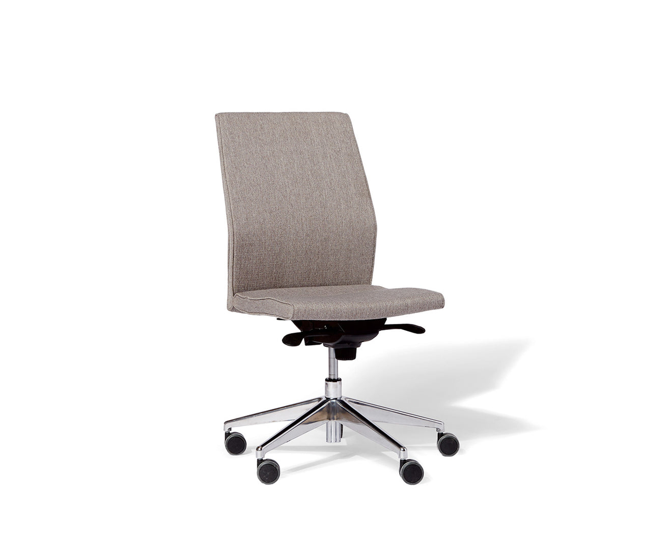 Contoured MidBack Armless Upholstered Task Chair west elm WORKSPACE