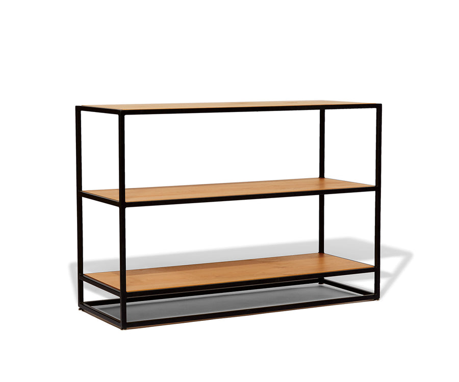 Industrial Low Bookcase