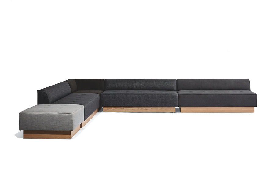 Gentil Conover Plinth Sectional   Coming Soon