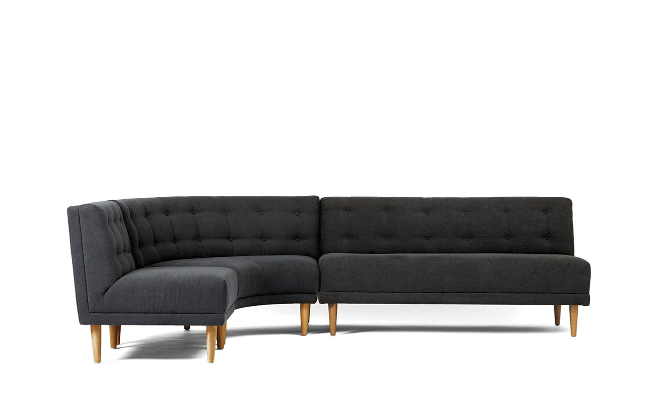Beau Rounded Retro Sectional   Coming Soon
