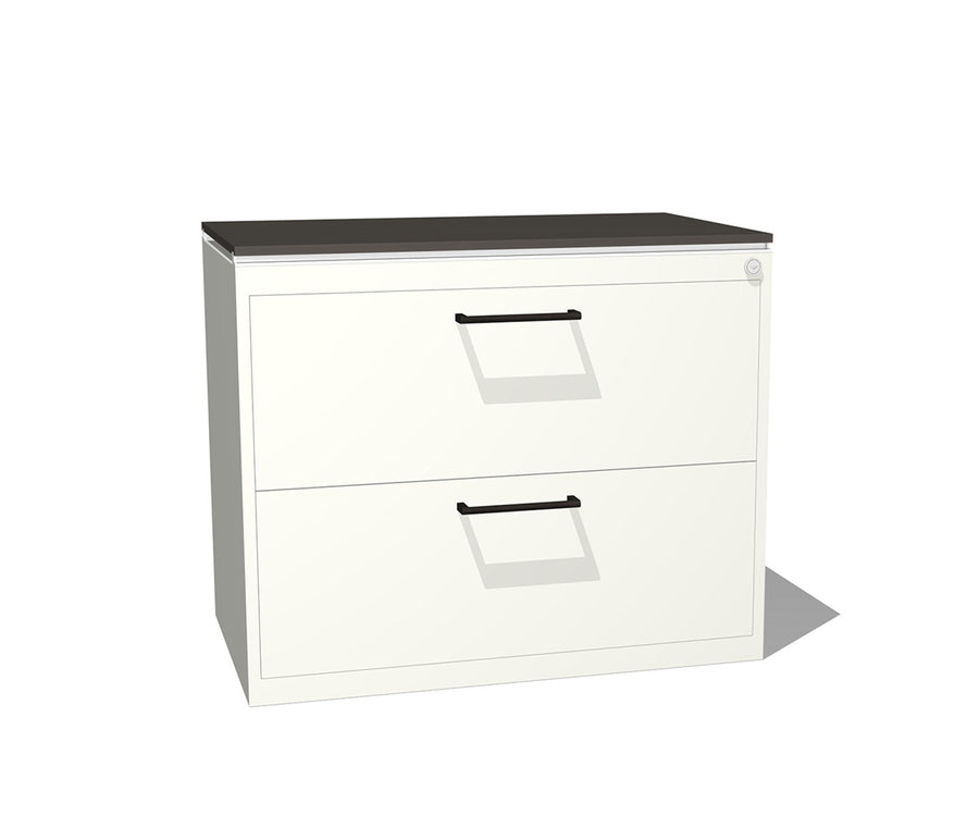 Truss Metal Two-Drawer Lateral File