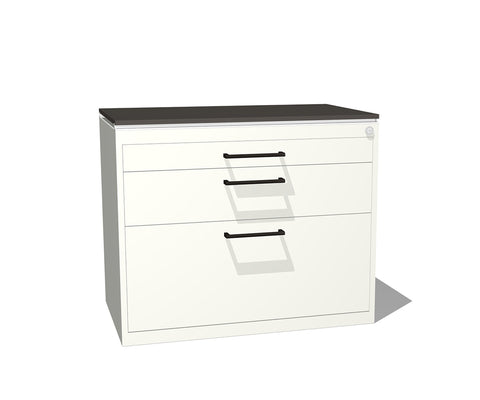 Truss Metal Three-Drawer Lateral File