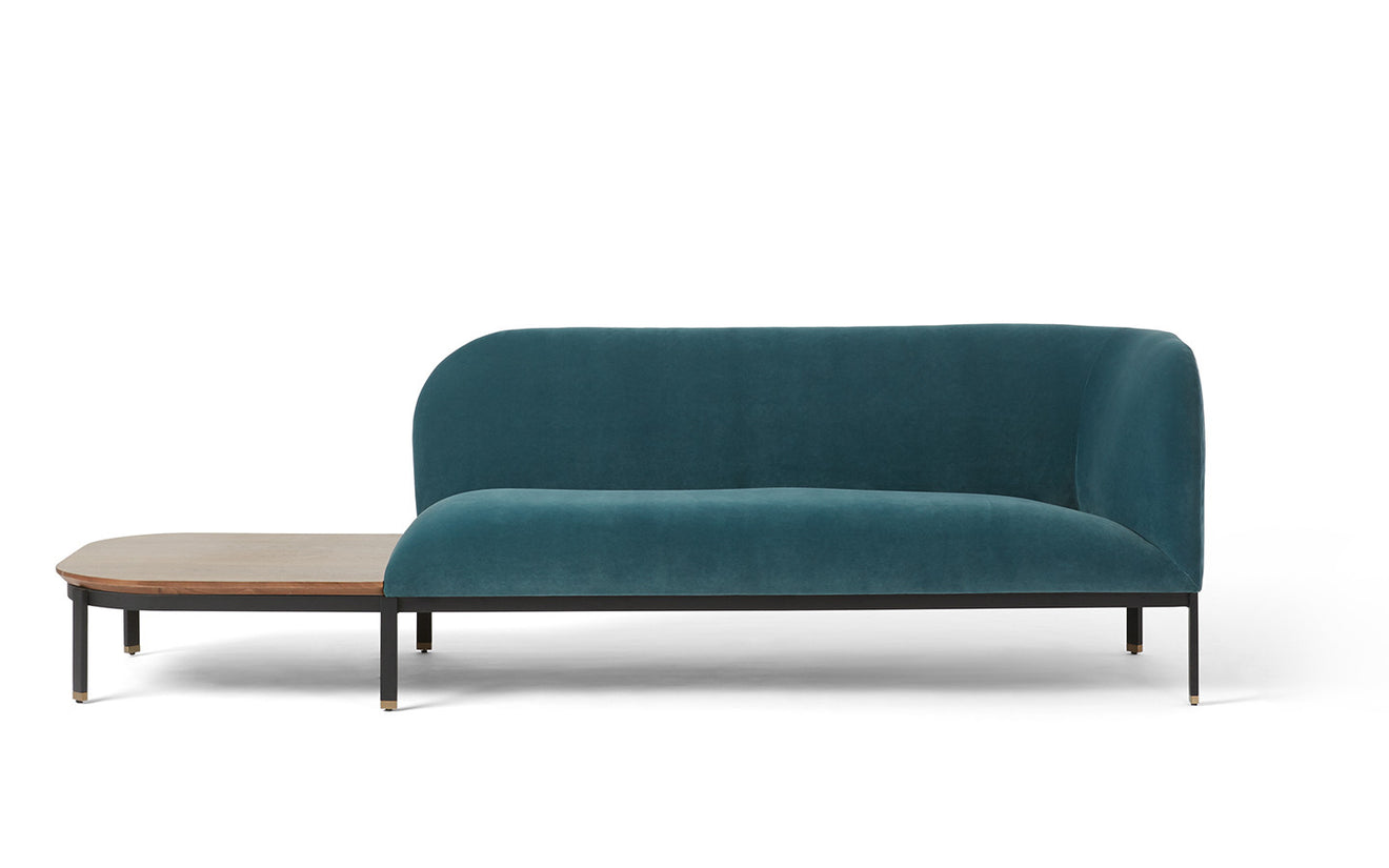 Leather slipper chair west elm - Billow Low Back Chaise