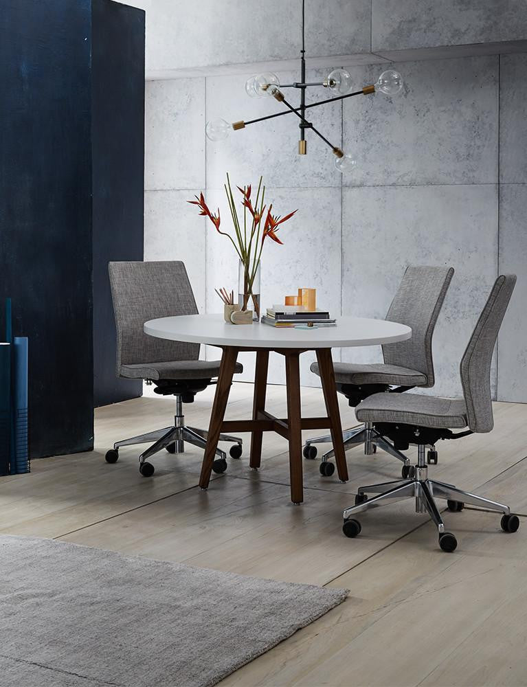 Contoured Mid-Back Armless Upholstered Task Chair