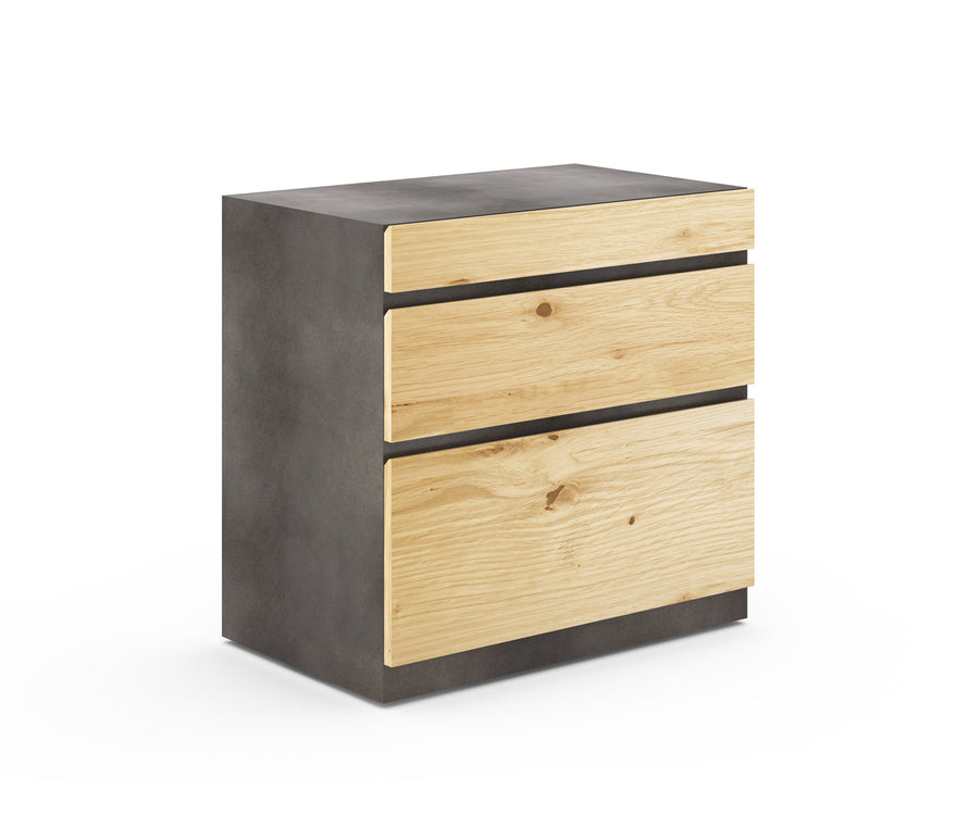 Industrial Metal Three-Drawer Lateral File