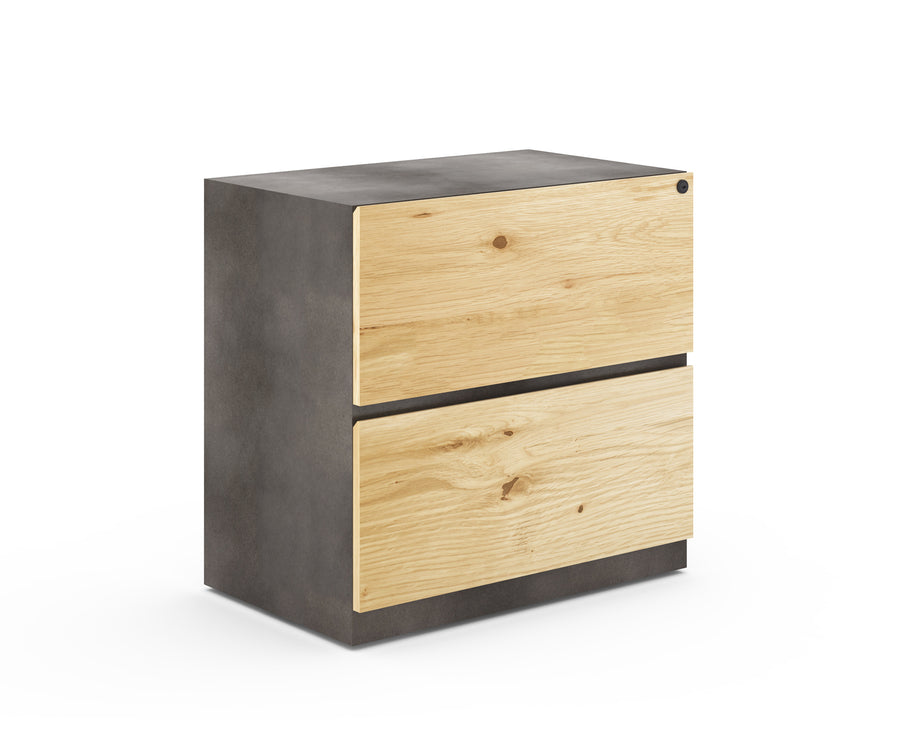 Industrial Metal Two-Drawer Lateral File