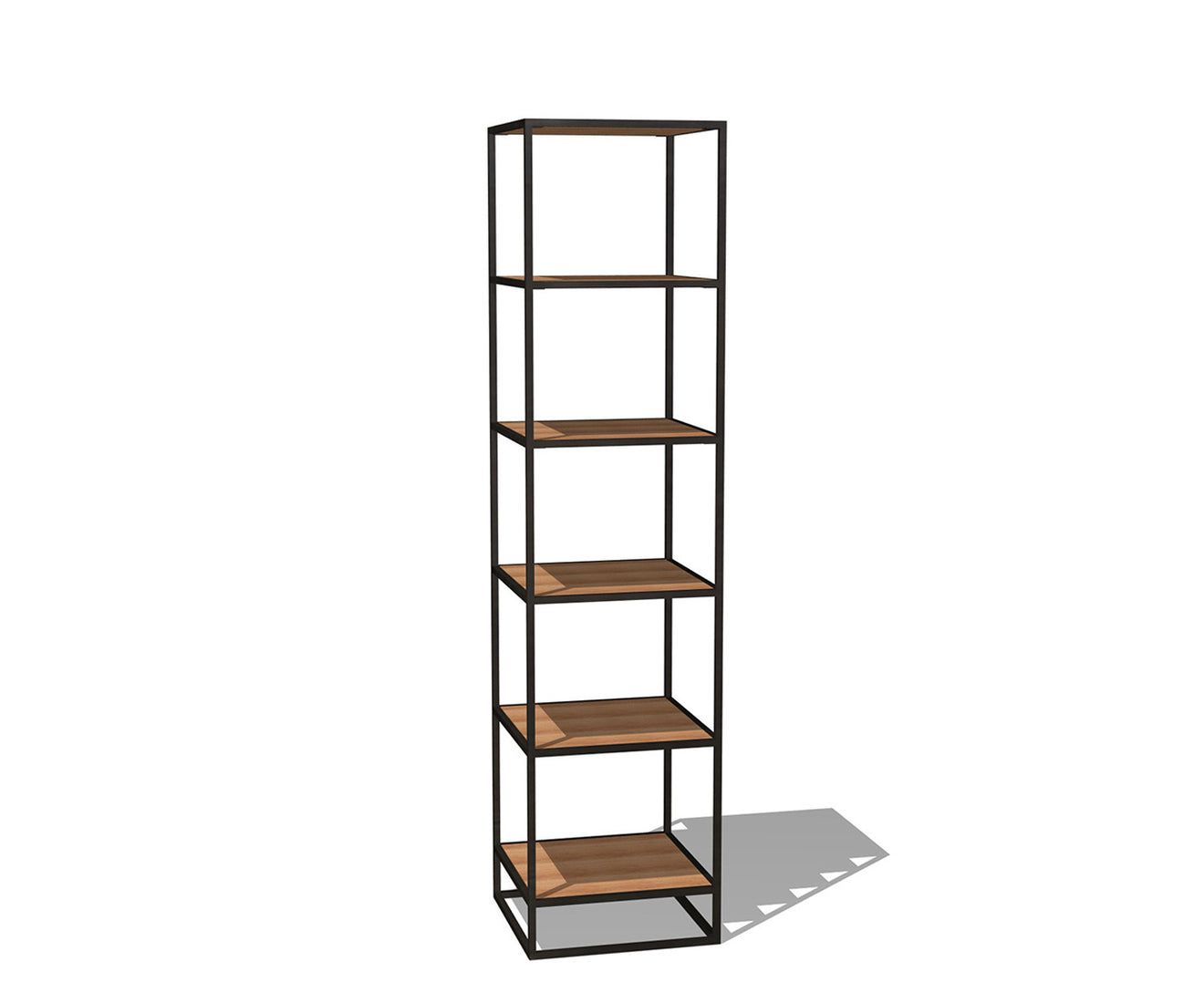 Industrial Narrow Bookcase