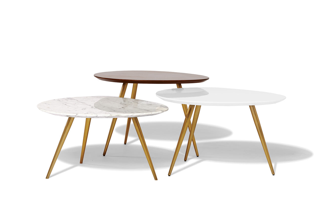 Lily Pad Nesting Tables TEMPORARILY UNAVAILABLE West Elm WORKSPACE - Nesting table with drawer