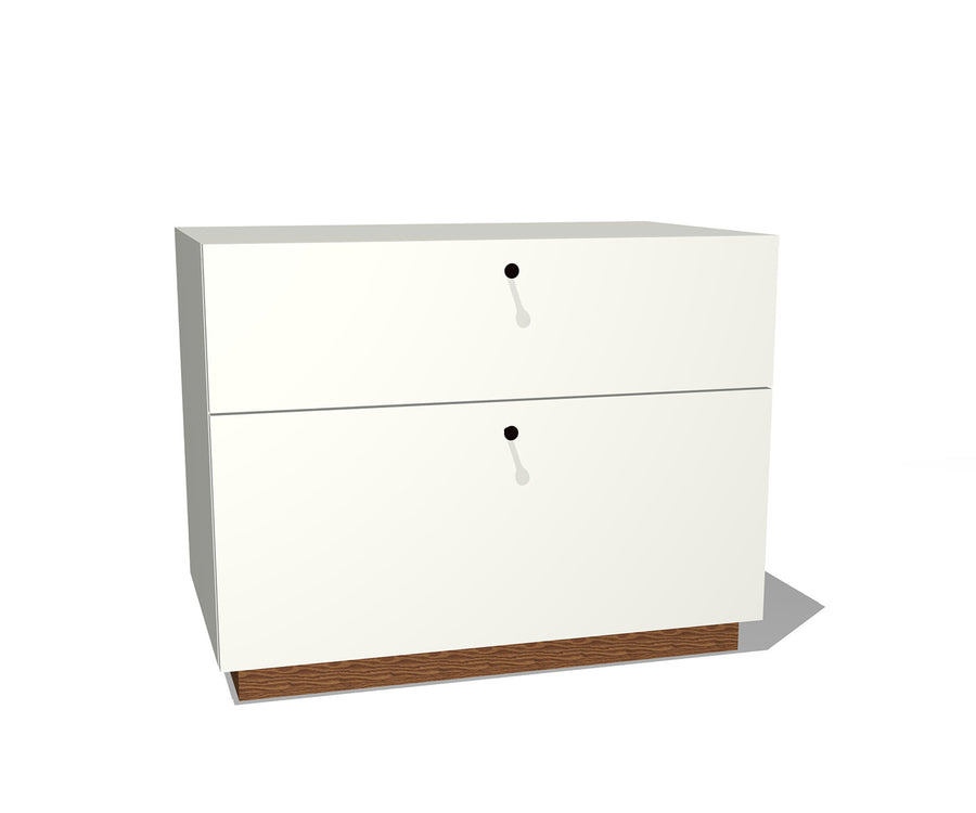 Modern Two-Drawer Lateral File
