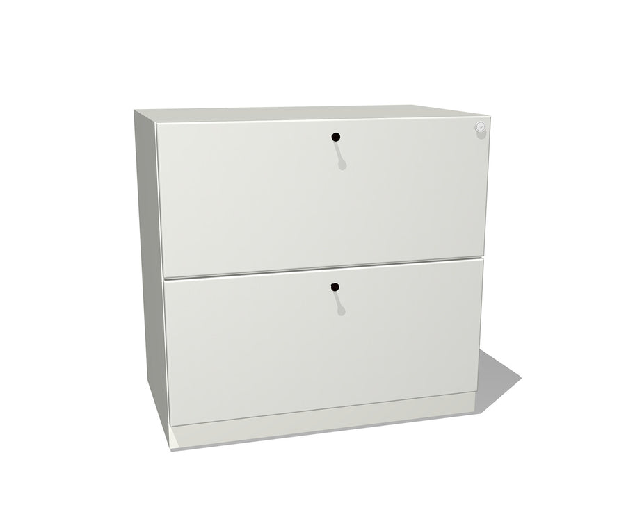Modern Metal Two-Drawer Lateral File
