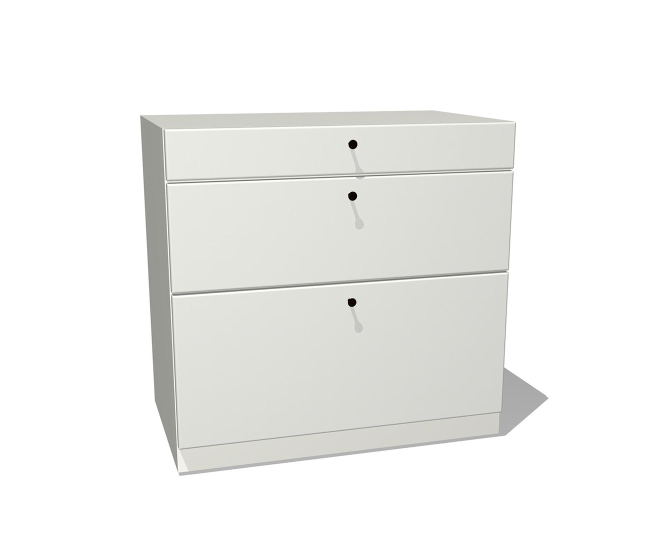 Modern Metal Three-Drawer Lateral File