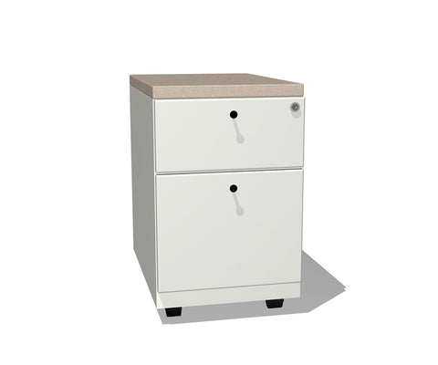 Modern Metal Mobile Pedestal File With Cushion