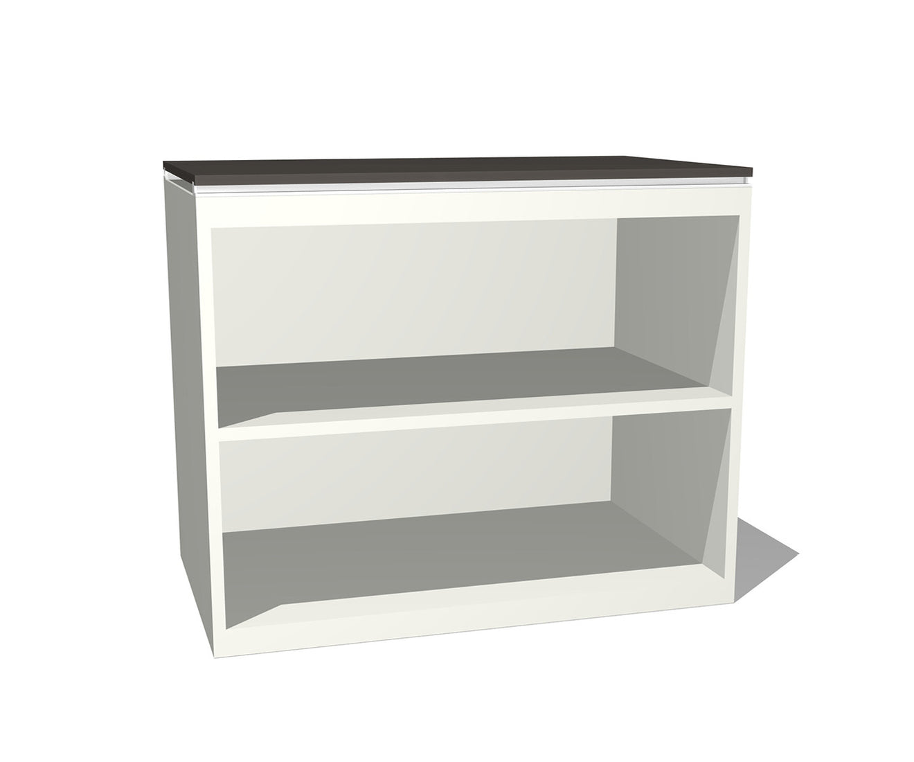 a construction bookshelf our sleek with pin boasts design shelf two open bookcase clean metal