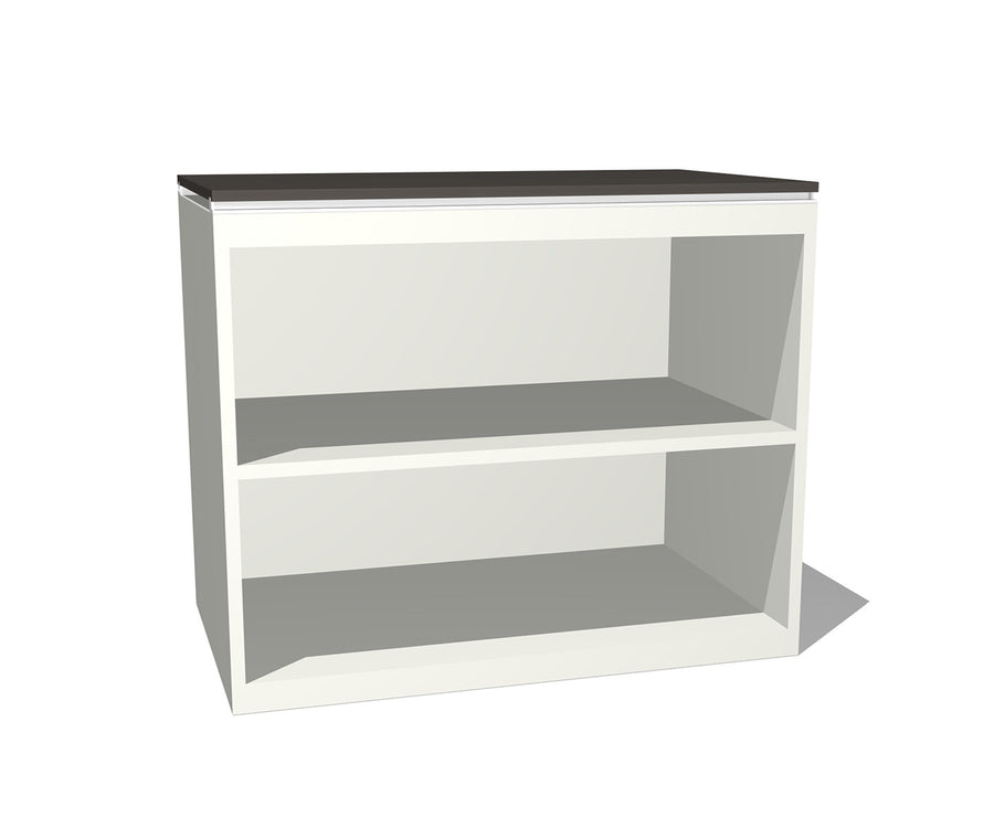 Truss Metal Two Shelf Bookcase