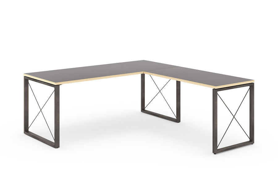 Truss Private Desk with Return