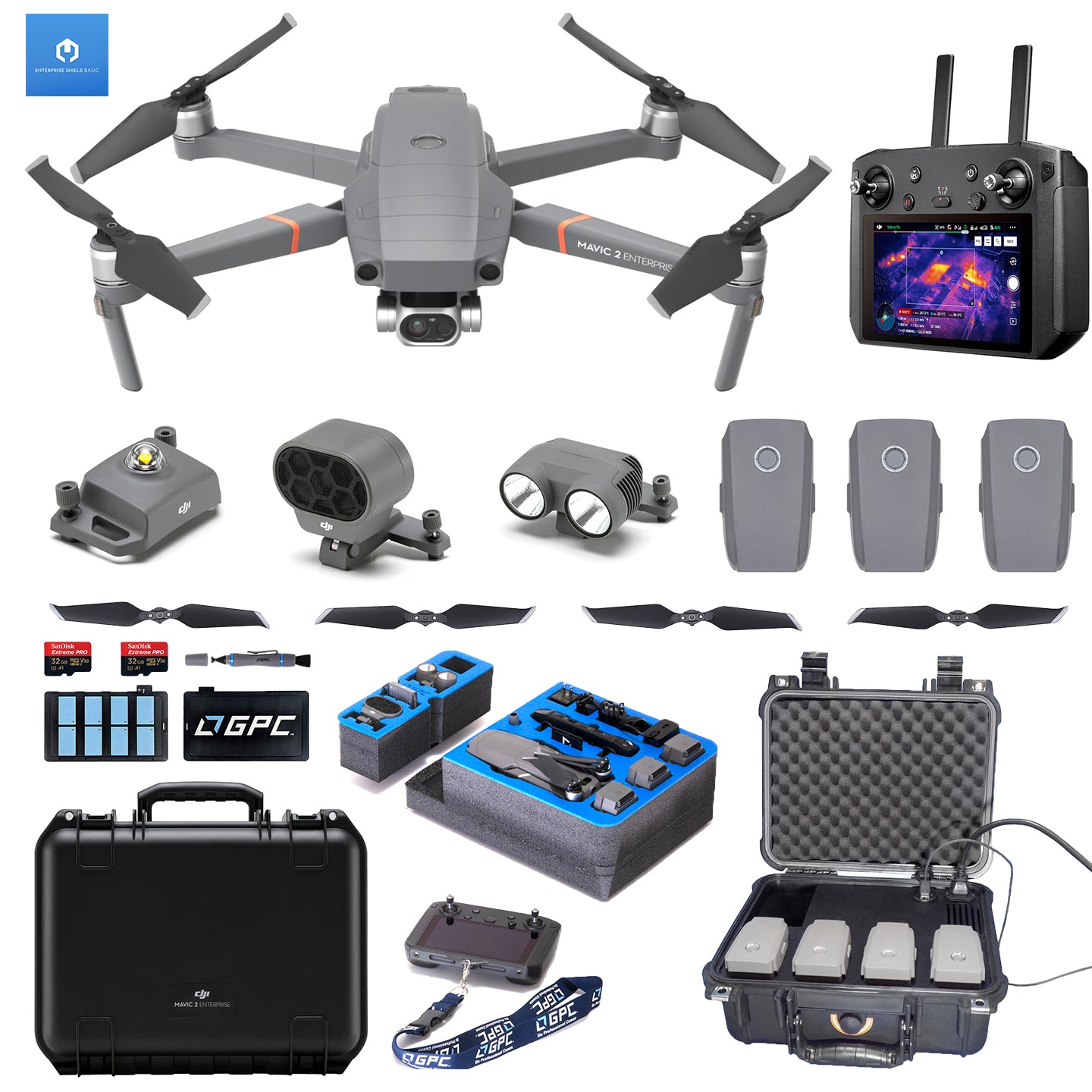 DJI Mavic 2 Enterprise Dual w/Smart Controller QuickTac Bundle