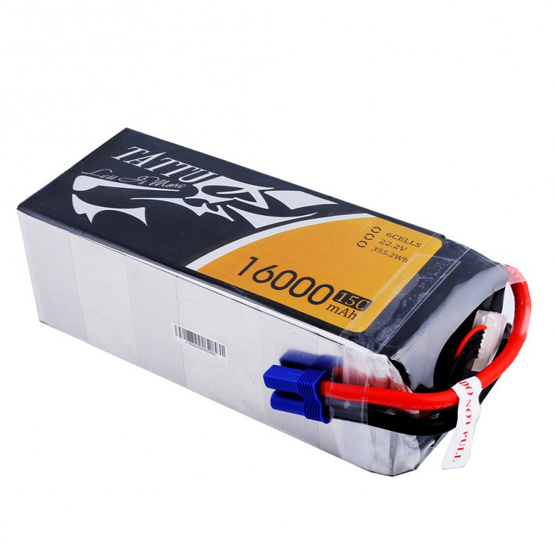 Tattu 16000mAh 6S1P 15C Battery w/EC5 Connector