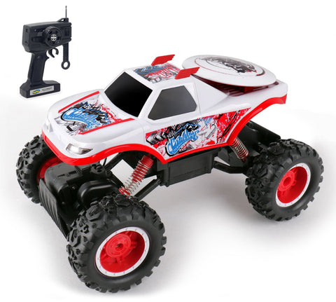 Kidirace All Terrain RC Rock Crawler - White