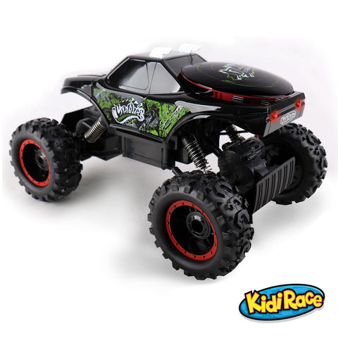 Kidirace All Terrain RC Rock Crawler - Black