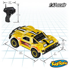 Remote Control Car -2 Mini RC Racing Coupe Cars - With Rechargeable Batteries and Wall Chargers