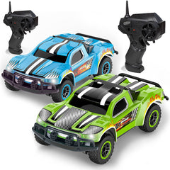 Remote Control Car - 2 Mini Racing Coupe Cars - With Rechargeable Batteries and Wall Chargers