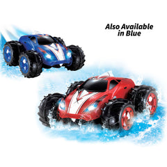 KidiRace Amphibious Remote Control Car ‒ Red ‒ 360 Degree Spin Aqua Stunt RC Car
