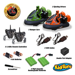 KidiRace RC Bumper Cars - Series 2402 - Orange & Green