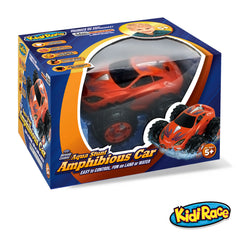 KidiRace Amphibious Remote Control Car ‒ Orange ‒ 360 Degree Spin Aqua Stunt RC Car