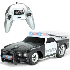 Remote Control Police Car with Flashing Lights & Sounds – 2.4GHz RC Cop Car for Boys and Girls