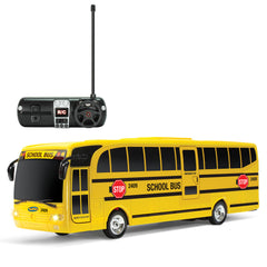 Remote Control School Bus with Beaming Lights, Rechargeable Battery – High-Speed RC Cars for Boys and Girls