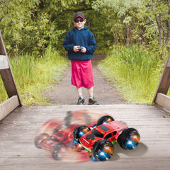KidiRace RC 360 Stunt Car - Red