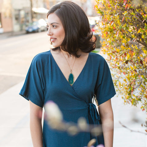 your Classic Wrap Dress - UPF 50+ - Square One Source