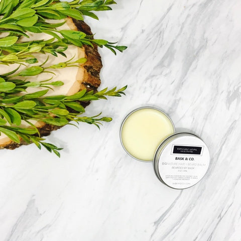 Bearded by Bask Signature Hair + Beard Balm - Square One Source