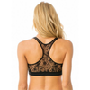 The Padded Sporty Bra - Black Lace - Square One Source