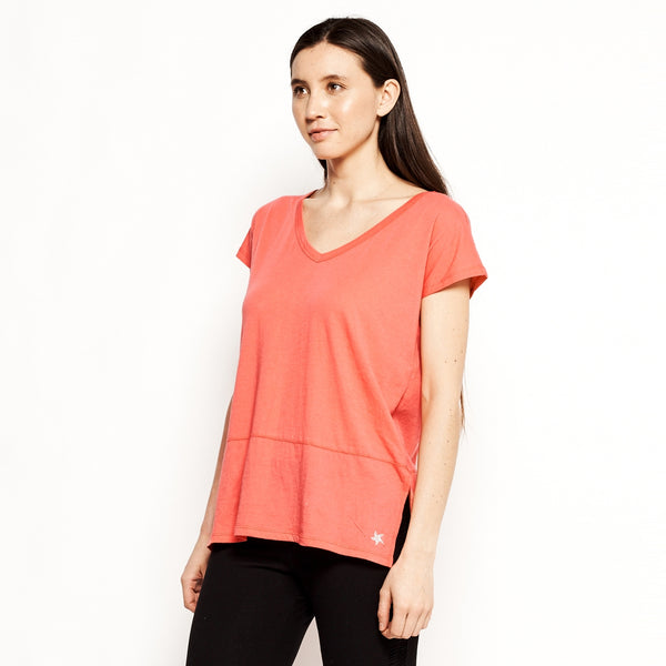 Vina V-Neck Tee (2 Available Colors) - Square One Source